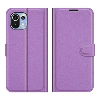 Xiaomi Mi 11 Lite 5G Kotelo PU-Nahka Violetti