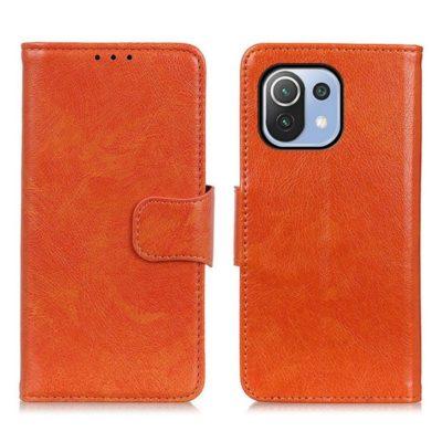 Xiaomi Mi 11 Lite 5G Suojakotelo Oranssi Nahka