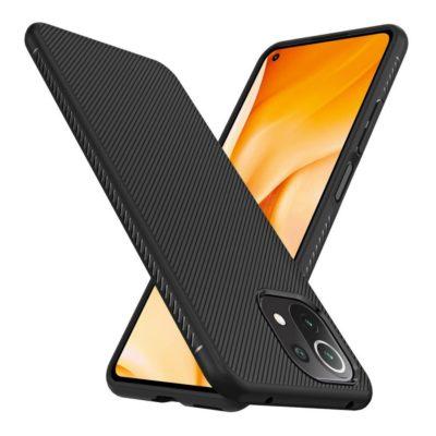 Xiaomi Mi 11 Lite 5G Suojakuori Silikoni Musta