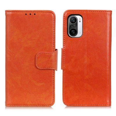 Xiaomi Mi 11i 5G Suojakotelo Oranssi Nahka