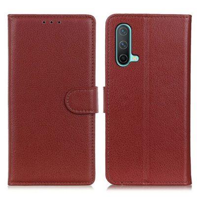 OnePlus Nord CE 5G Kotelo Ruskea Lompakko