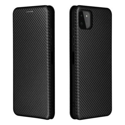 Samsung Galaxy A22 5G Kotelo Hiilikuitu Musta