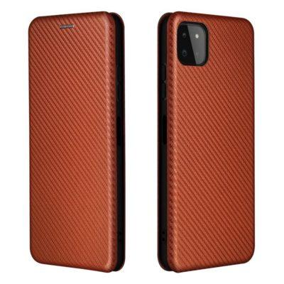 Samsung Galaxy A22 5G Kotelo Hiilikuitu Punainen