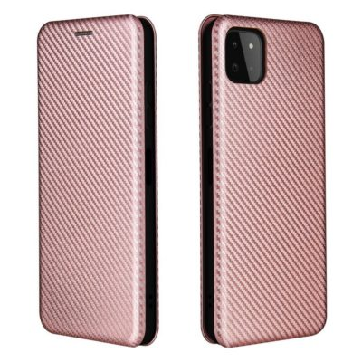 Samsung Galaxy A22 5G Kotelo Hiilikuitu Ruusukulta