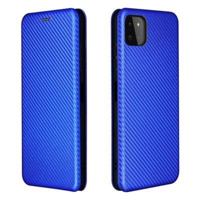 Samsung Galaxy A22 5G Kotelo Hiilikuitu Sininen