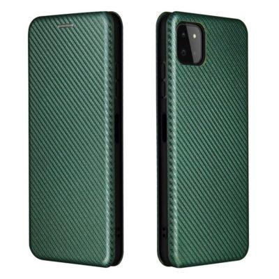 Samsung Galaxy A22 5G Kotelo Hiilikuitu Vihreä