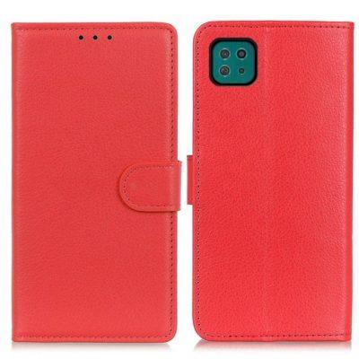 Samsung Galaxy A22 5G Kotelo Punainen Lompakko