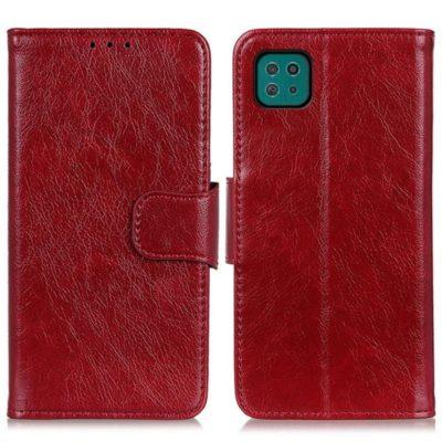 Samsung Galaxy A22 5G Kotelo Punainen Nahka