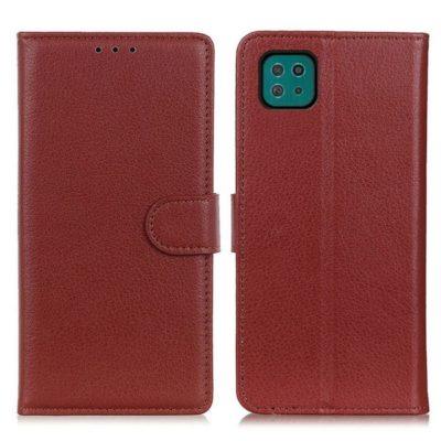 Samsung Galaxy A22 5G Kotelo Ruskea Lompakko