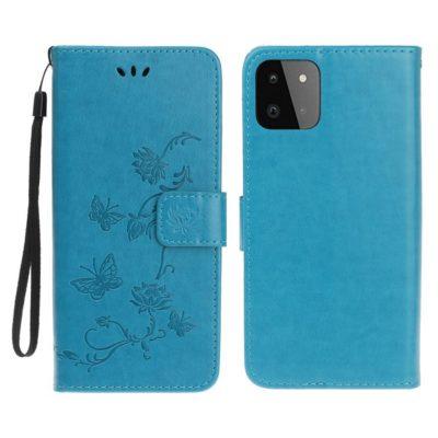 Samsung Galaxy A22 5G Suojakotelo Kukka Sininen
