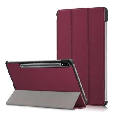 Samsung Galaxy Tab S7 FE 5G Suojakotelo Viininpunainen