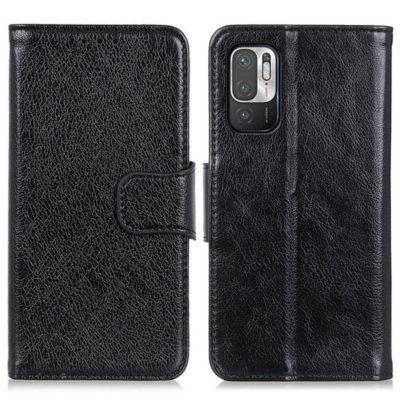 Xiaomi Redmi Note 10 5G Kotelo Musta Nahka