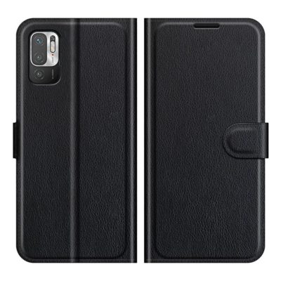 Xiaomi Redmi Note 10 5G Kotelo PU-Nahka Musta