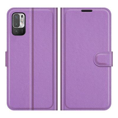 Xiaomi Redmi Note 10 5G Kotelo PU-Nahka Violetti