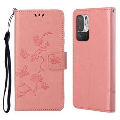Xiaomi Redmi Note 10 5G Suojakotelo Kukka Vaaleanpunainen