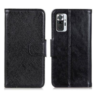 Xiaomi Redmi Note 10 Pro Kotelo Musta Nahka