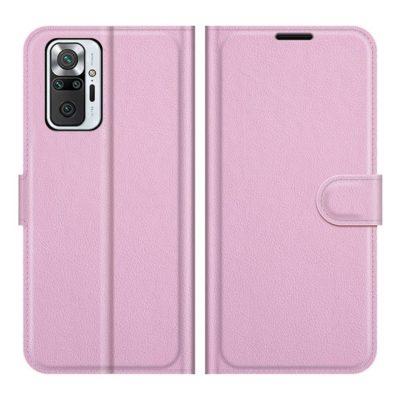 Xiaomi Redmi Note 10 Pro Kotelo PU-Nahka Vaaleanpunainen