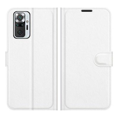 Xiaomi Redmi Note 10 Pro Kotelo PU-Nahka Valkoinen