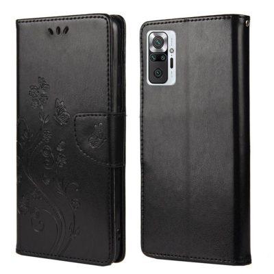Xiaomi Redmi Note 10 Pro Suojakotelo Kukka Musta
