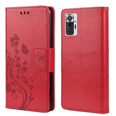 Xiaomi Redmi Note 10 Pro Suojakotelo Kukka Pinkki