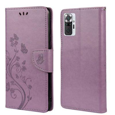 Xiaomi Redmi Note 10 Pro Suojakotelo Kukka Violetti