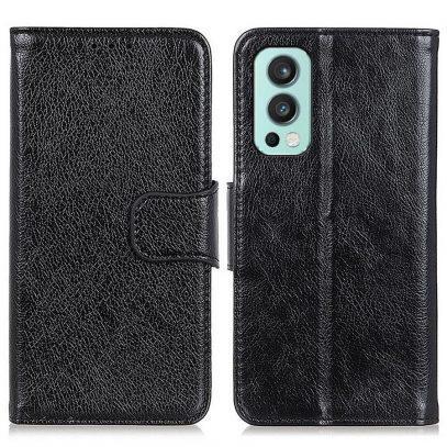 OnePlus Nord 2 5G Kotelo Musta Nahka