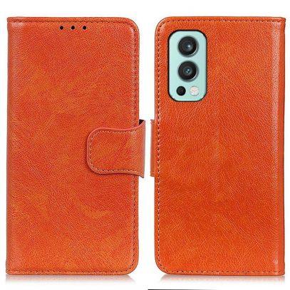 OnePlus Nord 2 5G Kotelo Oranssi Nahka