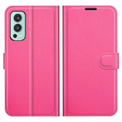 OnePlus Nord 2 5G Kotelo PU-Nahka Pinkki