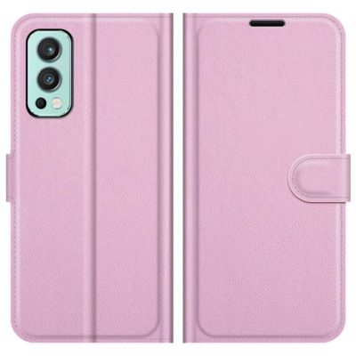 OnePlus Nord 2 5G Kotelo PU-Nahka Vaaleanpunainen