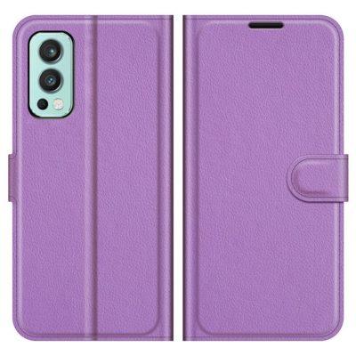 OnePlus Nord 2 5G Kotelo PU-Nahka Violetti