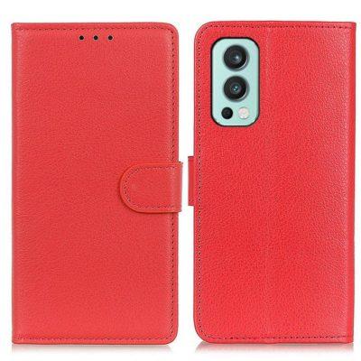 OnePlus Nord 2 5G Kotelo Punainen Lompakko