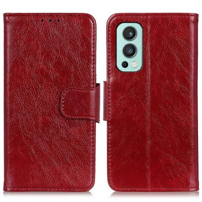 OnePlus Nord 2 5G Kotelo Punainen Nahka