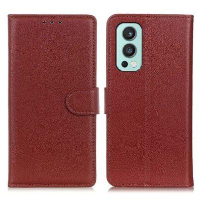 OnePlus Nord 2 5G Kotelo Ruskea Lompakko