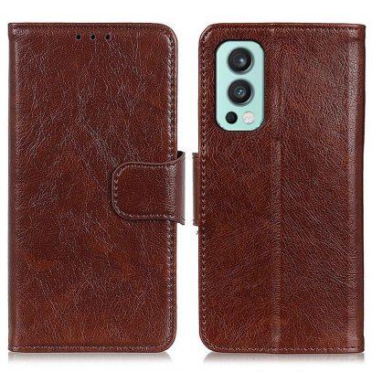 OnePlus Nord 2 5G Kotelo Ruskea Nahka