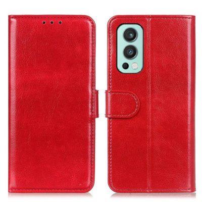 OnePlus Nord 2 5G Lompakkokotelo Punainen