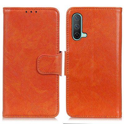 OnePlus Nord CE 5G Kotelo Oranssi Nahka