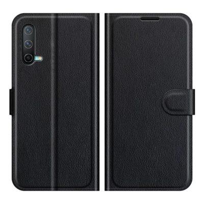 OnePlus Nord CE 5G Kotelo PU-Nahka Musta