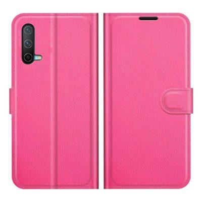 OnePlus Nord CE 5G Kotelo PU-Nahka Pinkki