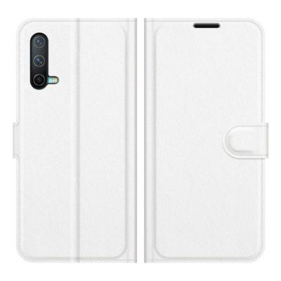 OnePlus Nord CE 5G Kotelo PU-Nahka Valkoinen