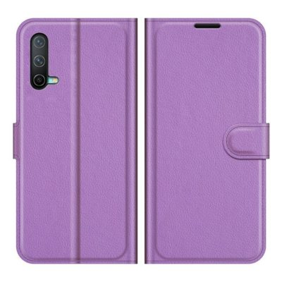 OnePlus Nord CE 5G Kotelo PU-Nahka Violetti