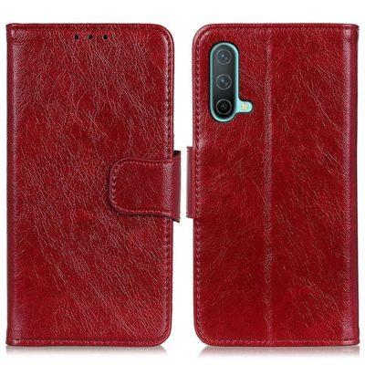 OnePlus Nord CE 5G Kotelo Punainen Nahka
