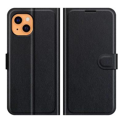 Apple iPhone 13 mini Kotelo PU-Nahka Musta