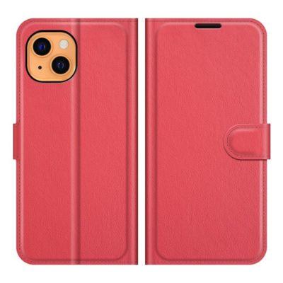 Apple iPhone 13 mini Kotelo PU-Nahka Punainen