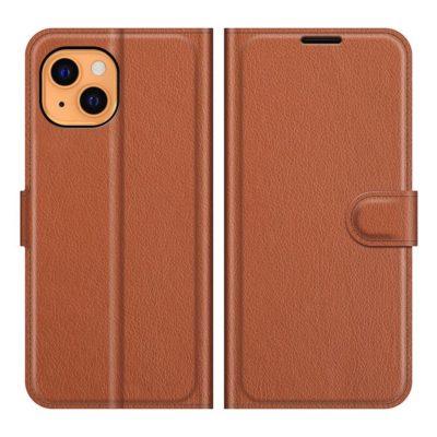 Apple iPhone 13 mini Kotelo PU-Nahka Ruskea