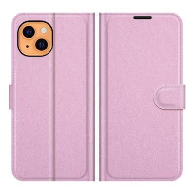 Apple iPhone 13 mini Kotelo PU-Nahka Vaaleanpunainen