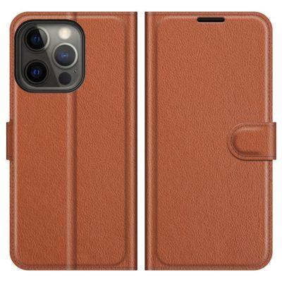 Apple iPhone 13 Pro Kotelo PU-Nahka Ruskea