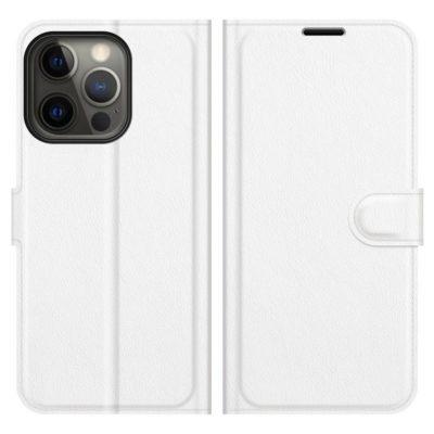 Apple iPhone 13 Pro Kotelo PU-Nahka Valkoinen