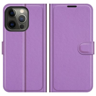 Apple iPhone 13 Pro Kotelo PU-Nahka Violetti