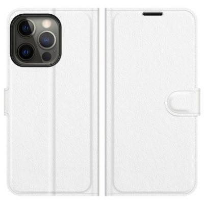 Apple iPhone 13 Pro Max Kotelo PU-Nahka Valkoinen