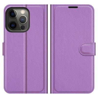 Apple iPhone 13 Pro Max Kotelo PU-Nahka Violetti